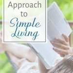 what does the bible say about simple living