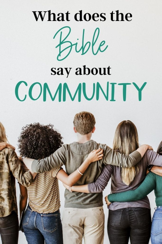what does the bible say about community image of group of friends hugging each other