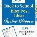 back to school blog post ideas