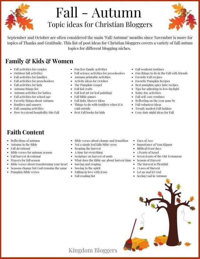 Fall and Autum Checklist ab