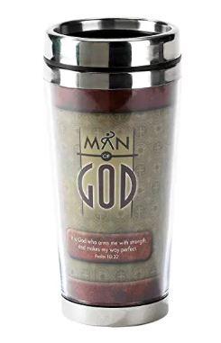 man of god stainless steel travel mug