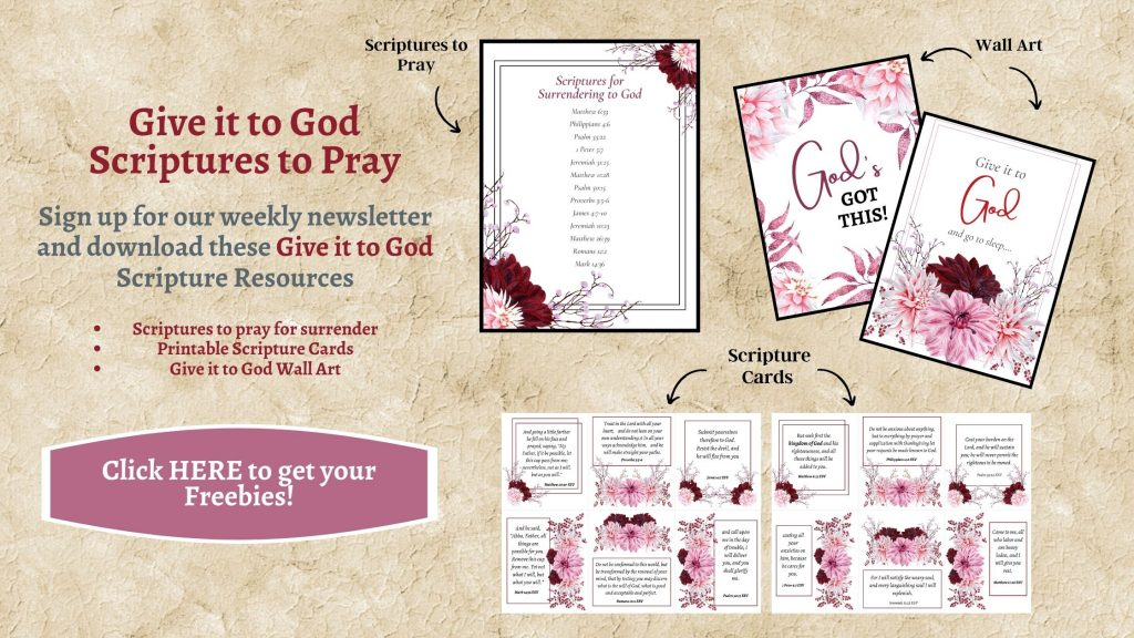 give it to god scriptures to pray and scripture cards