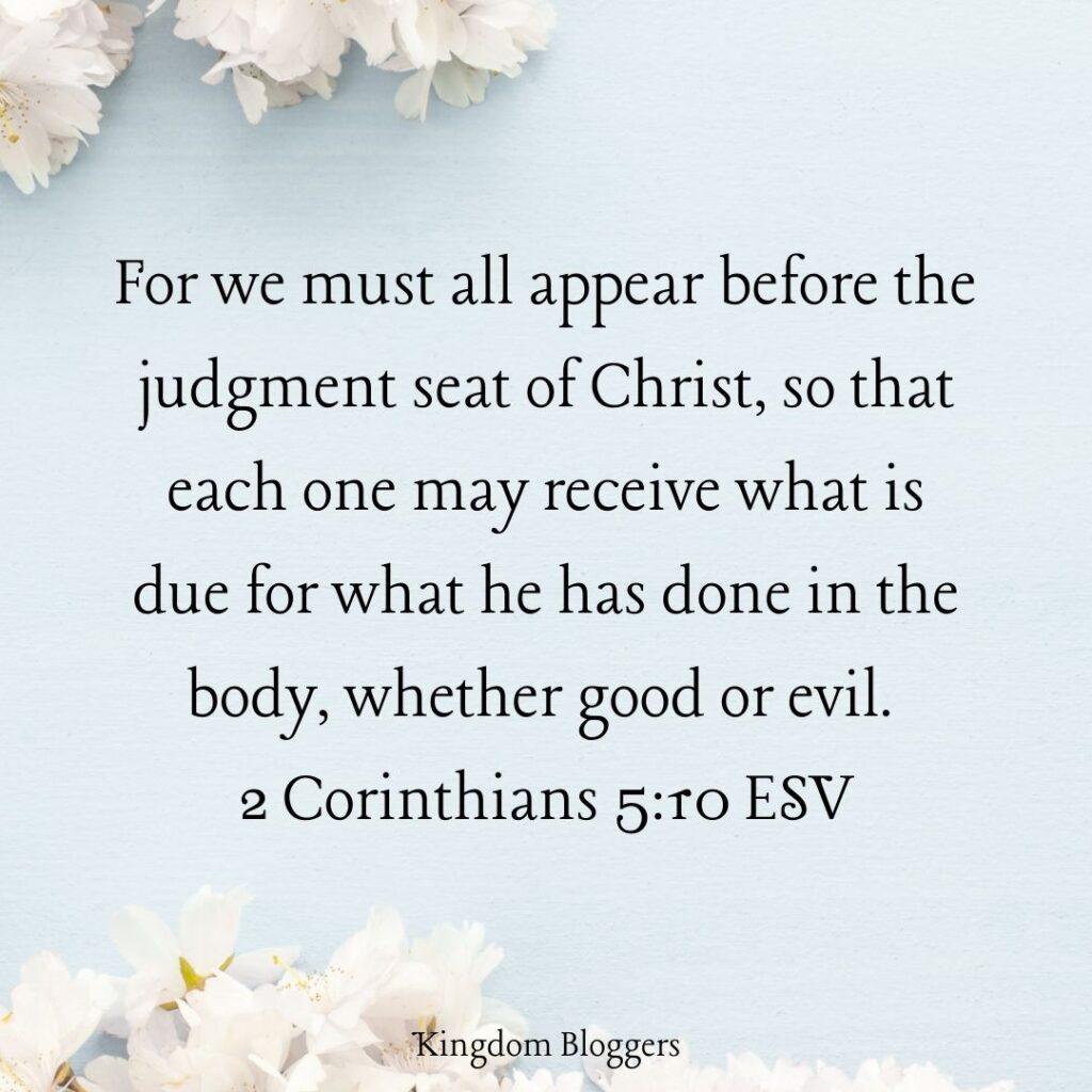 2 Corinthians 5 10 ESV