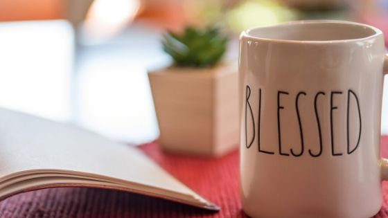 3 minute devotions and coffee on a table