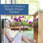 woman sitting in her prayer garden