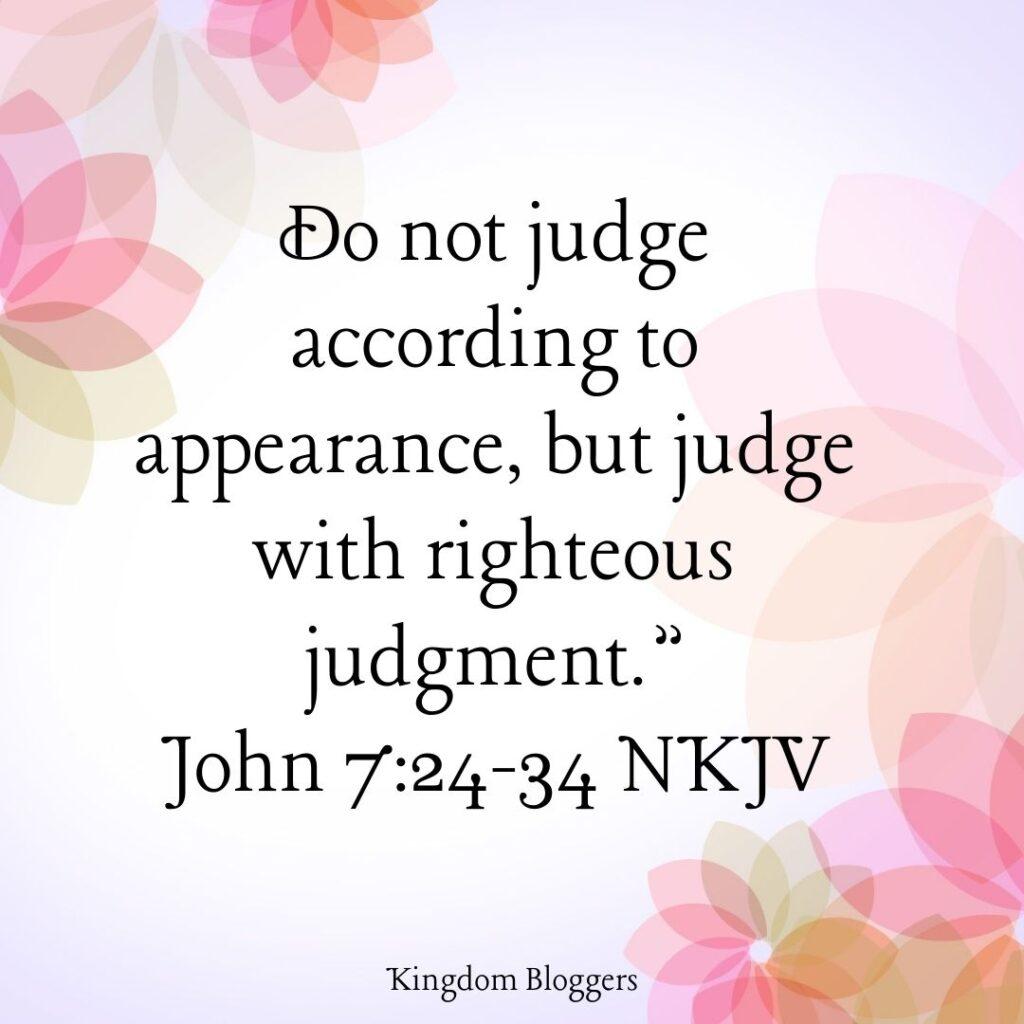 John 7 24 NKJV
