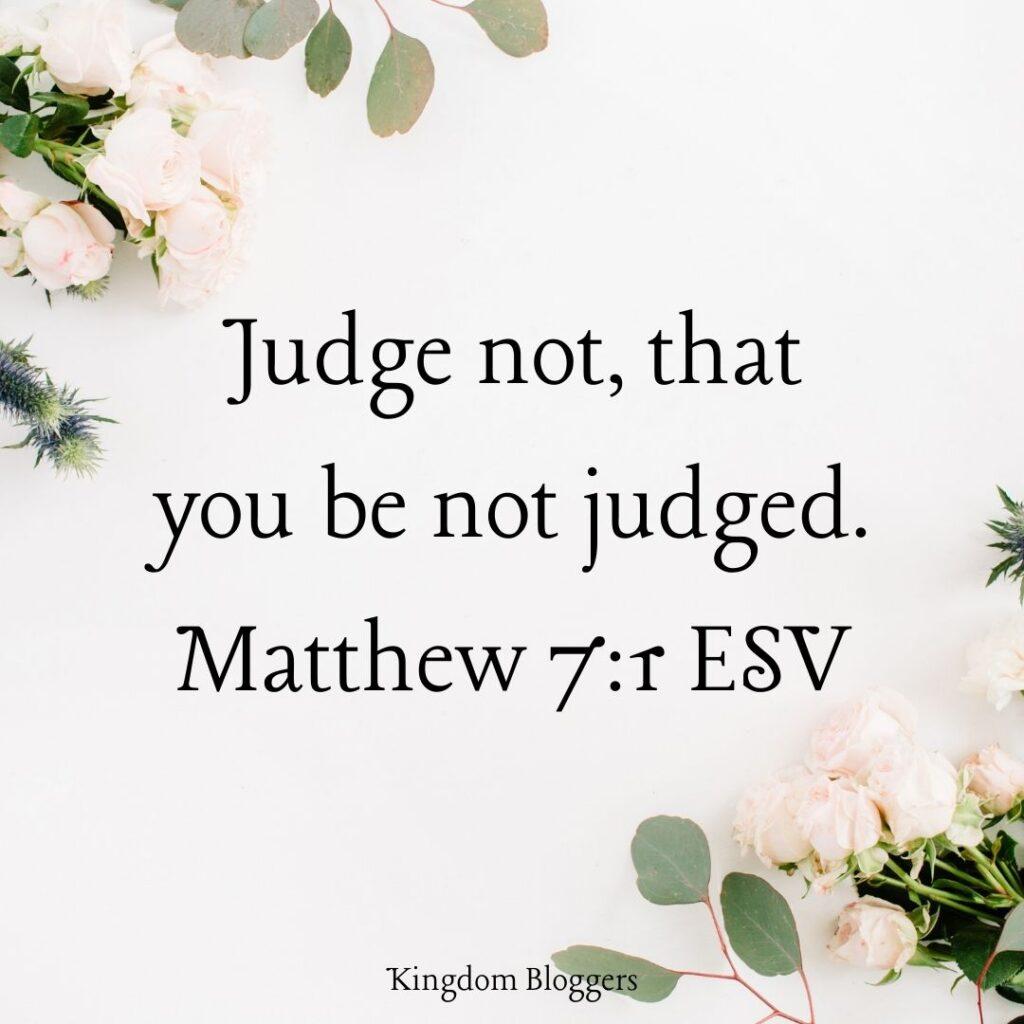 Matthew 7 1 ESV