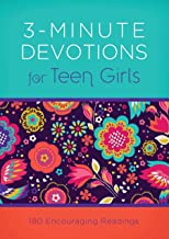colorful 3-minute devotional book for teen girls