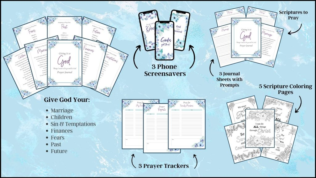 Let-Go-and-Let-God-Prayer-Journal-pages-on-a-blue-background