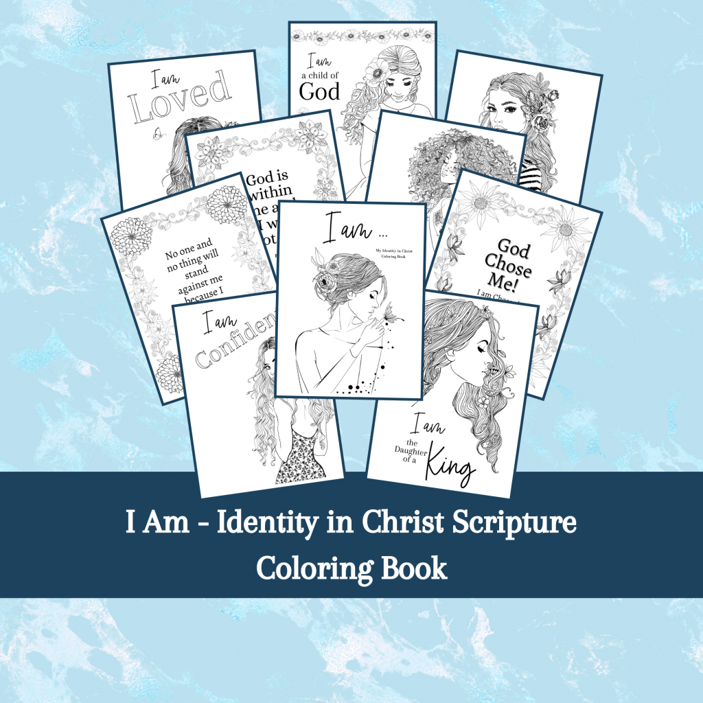Identity in Christ coloring book