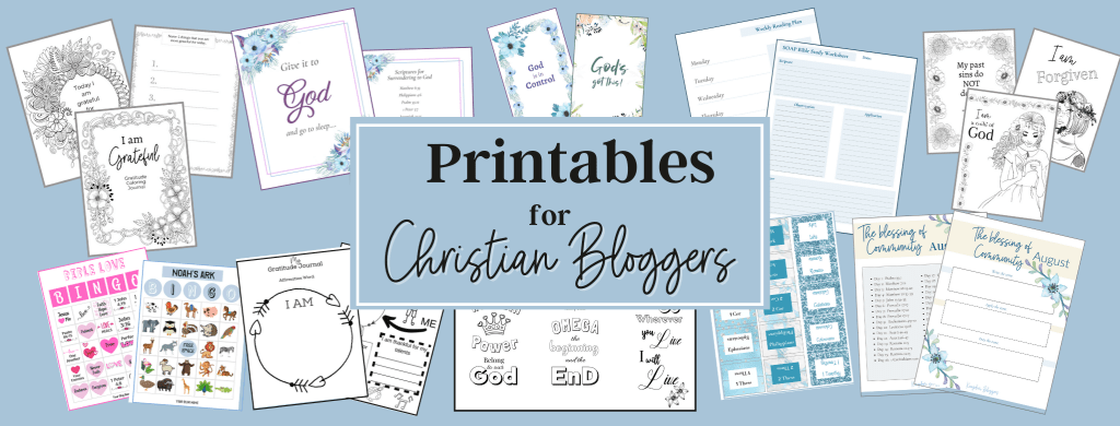 Printables for Christian Bloggers header image