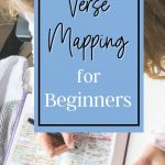 woman doing verse mapping in her bible
