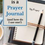 a Bible and a Prayer Journal