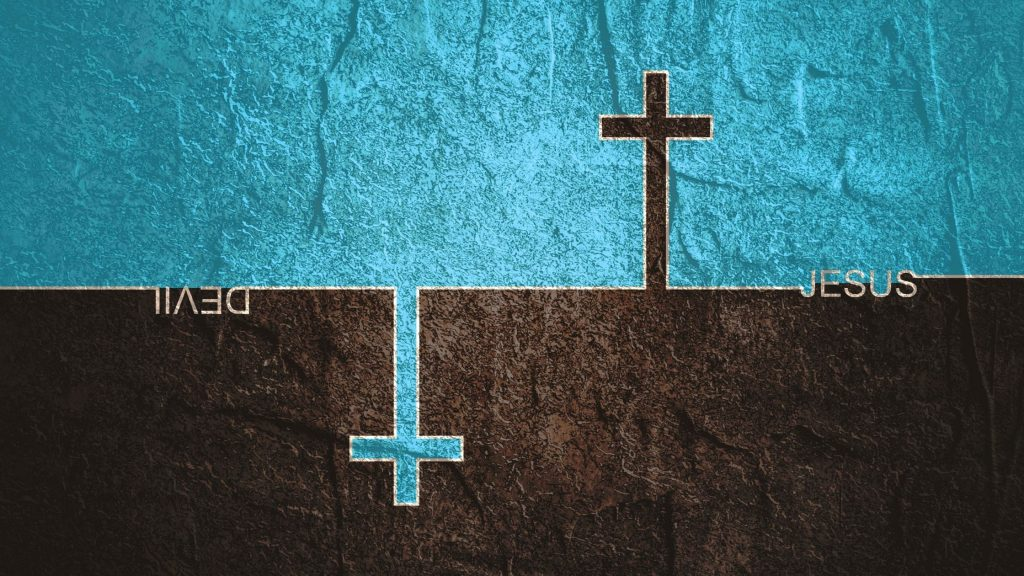 2-crosses-on-a-brown-and-turquoise-background