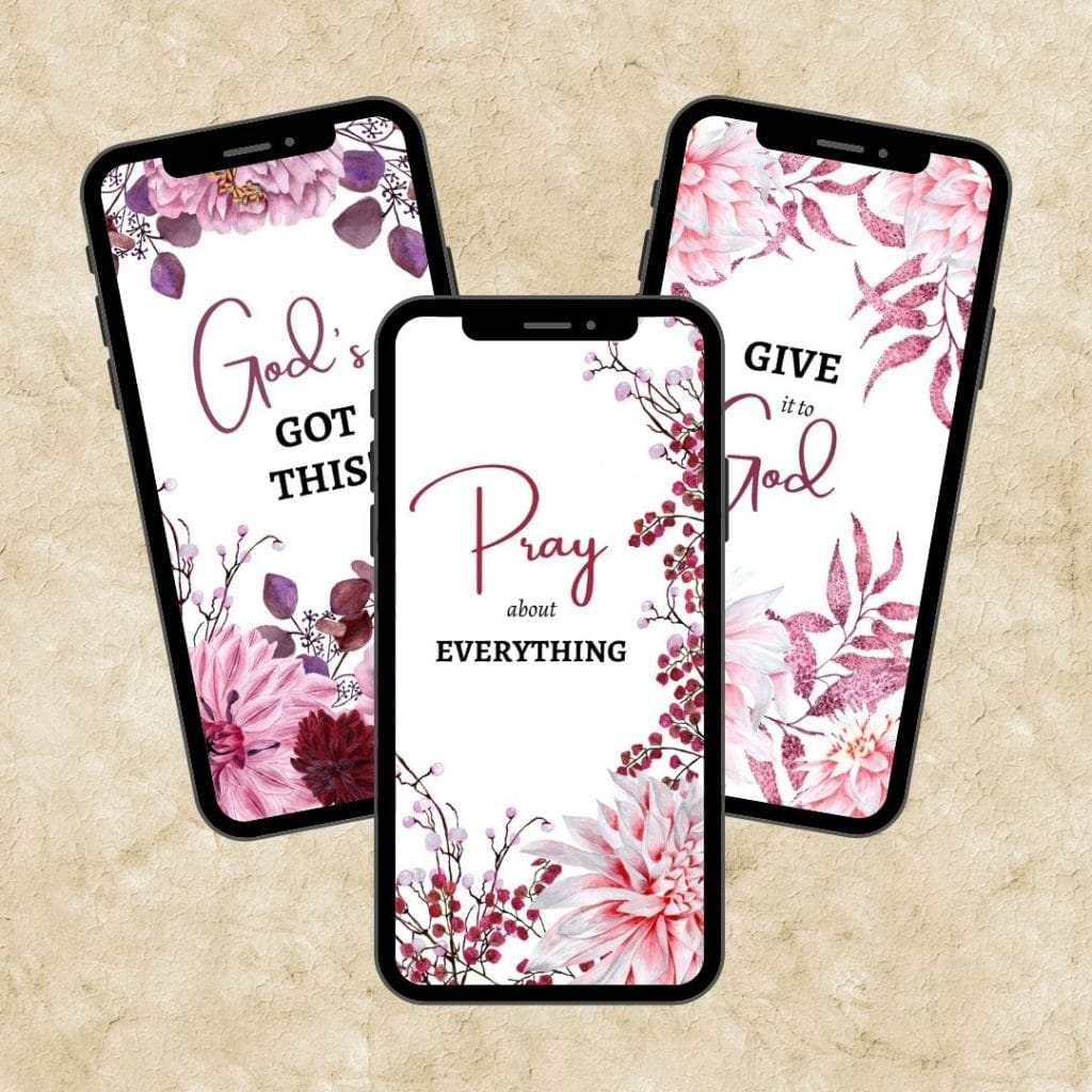pink floral give it to god phone screensavers