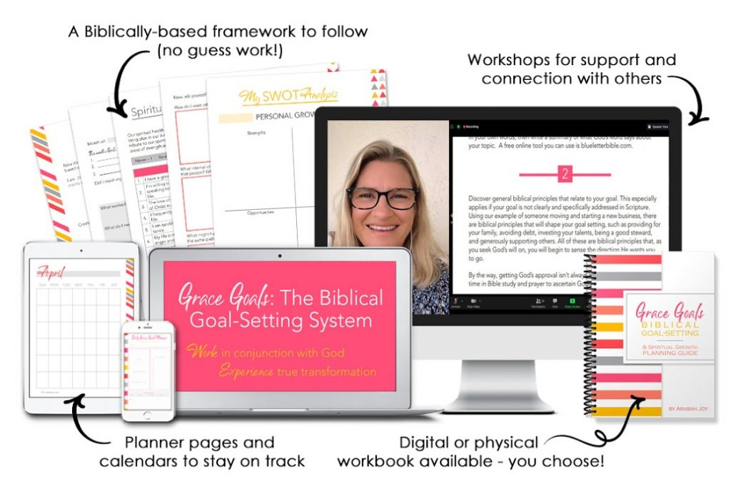 Grace Goals Planner and worksheets