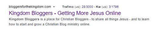screenshot of google search results for kingdom bloggers