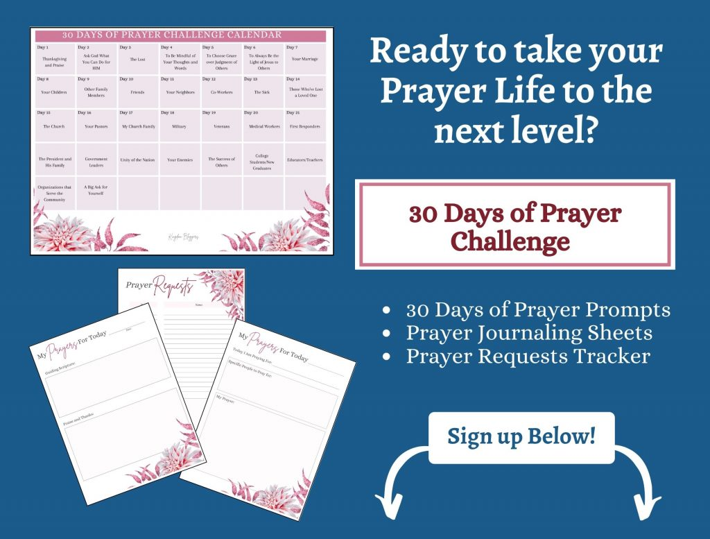 prayer challenge worksheets on a blue background