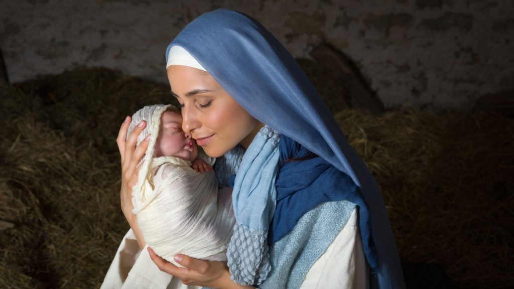 biblical mother holding an infant
