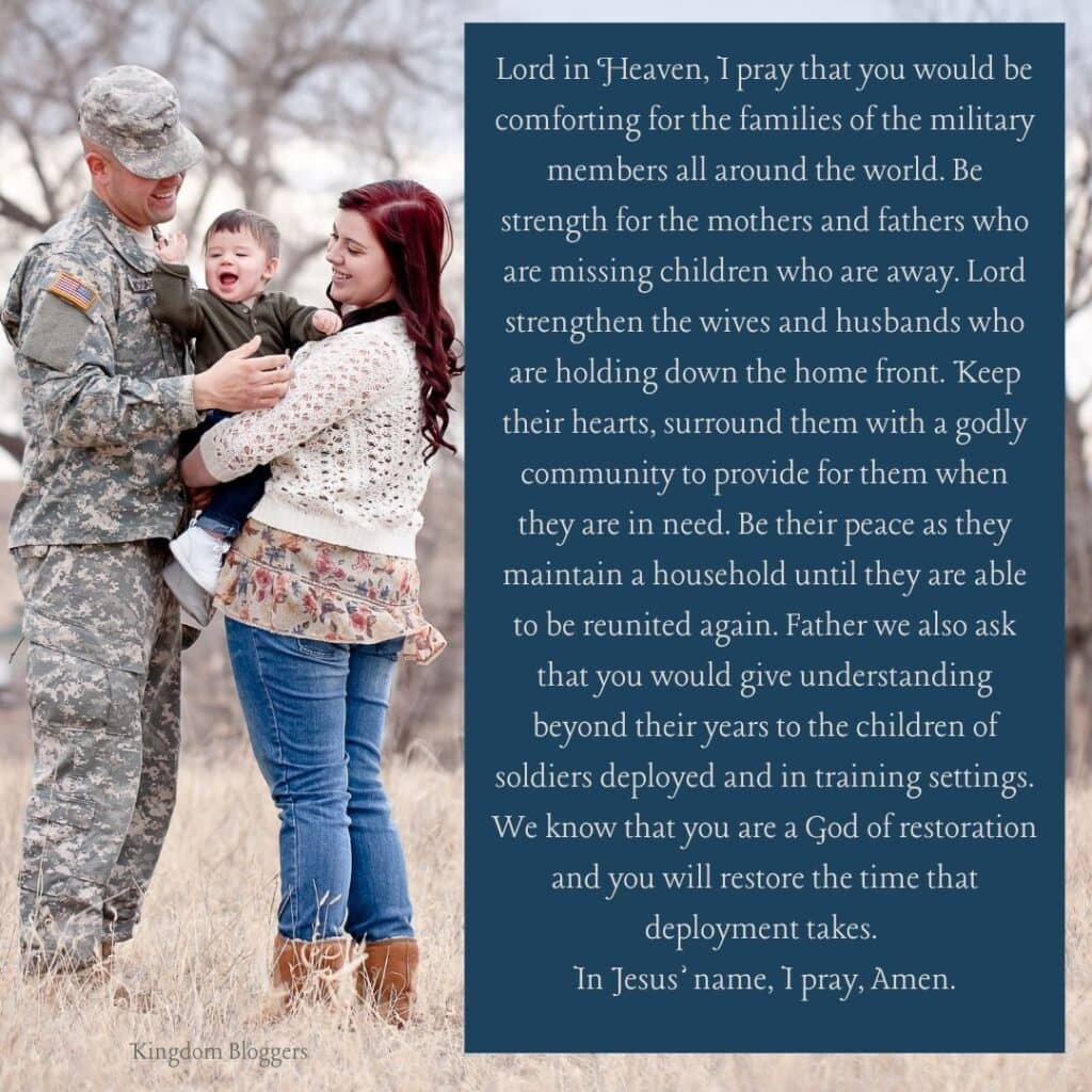 Prayer for Military Families