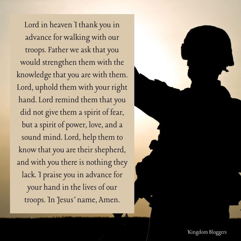 Prayer for Soldiers
