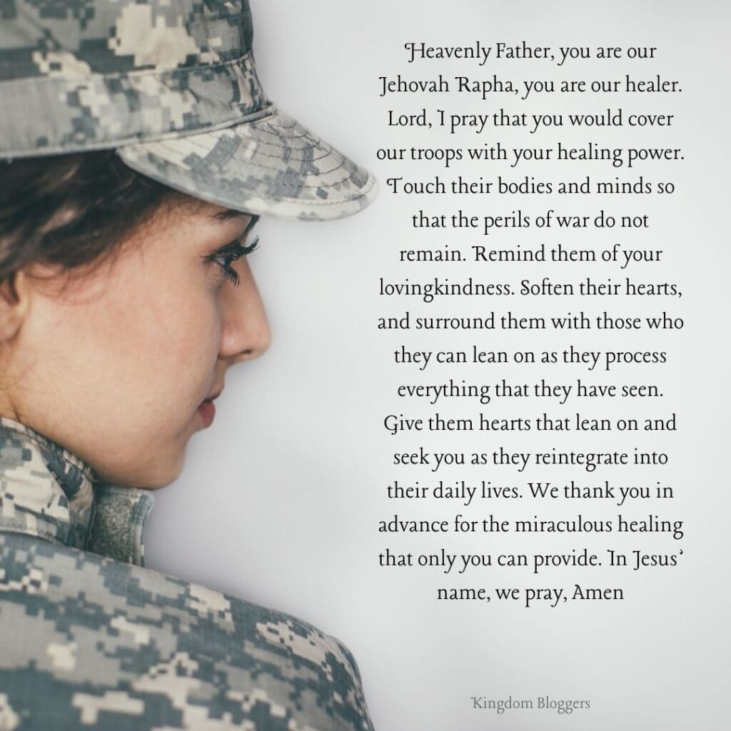 Prayer for our Soldiers