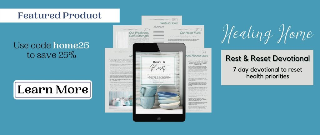 teal sale banner with bible reading plan mockups on it