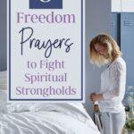 woman kneeling beside her bed in prayer