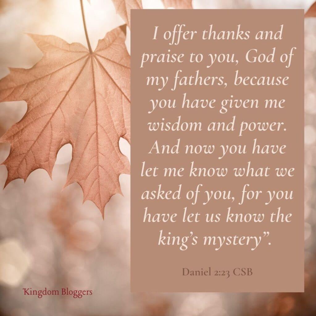 Thanksgiving to God verse