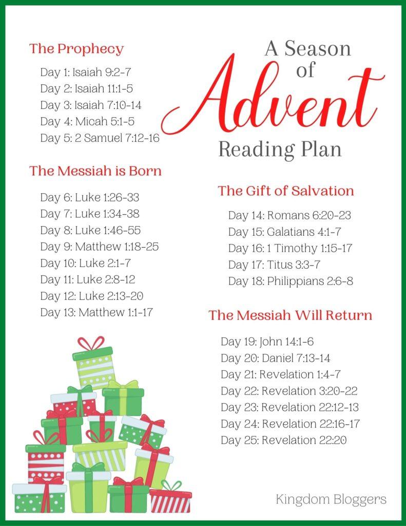 Advent Reading Plan