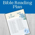 April Bible Reading Plan mockup