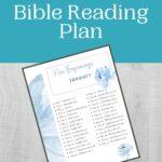 January Bible Reading Plan mockup