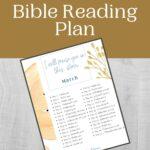 March Bible Reading Plan mockup