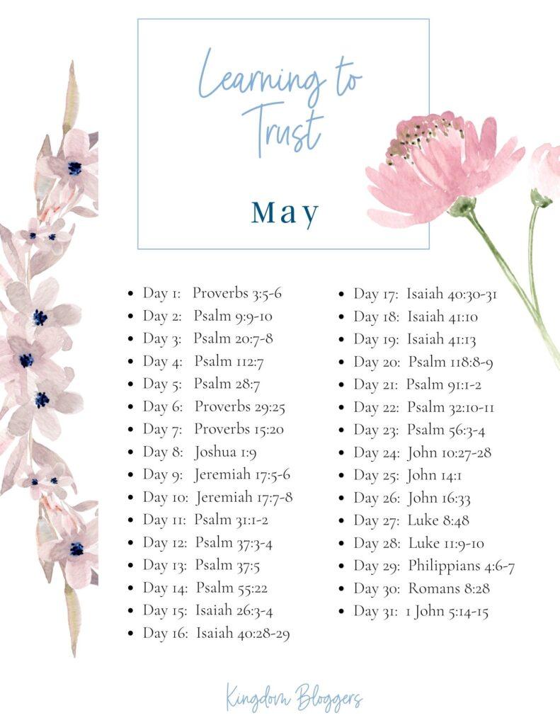 May Bible Reading Plan