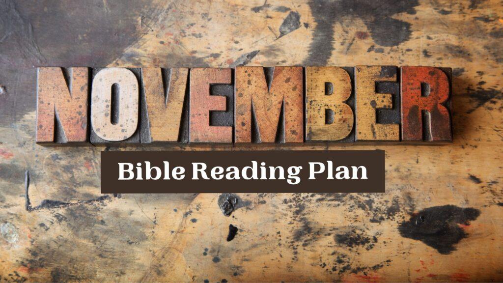 November Bible Reading Plan