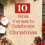 bible verses to celebrate christmas written on a festive backdrop