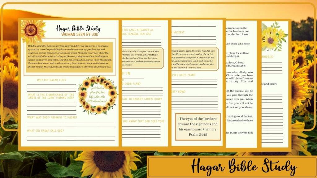 Hagar Bible Study mockup