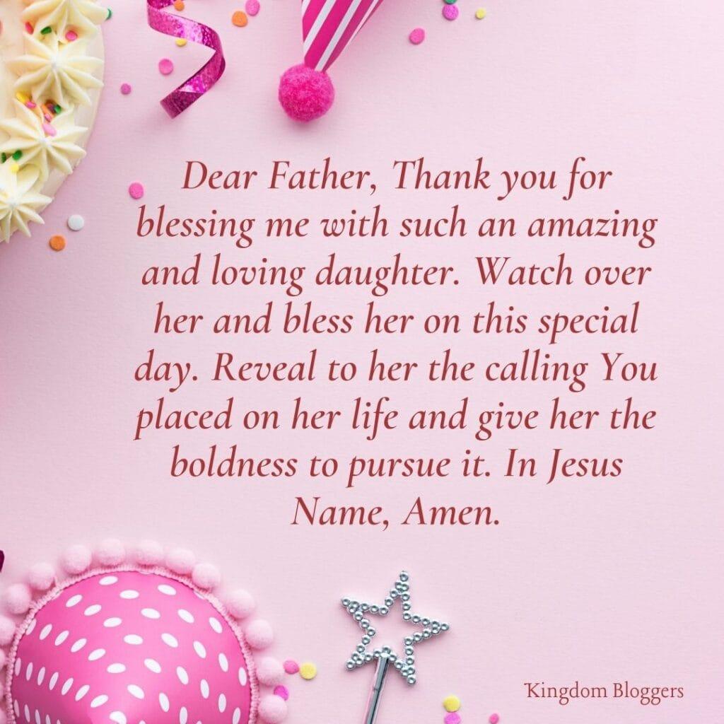 Birthday Prayer for Daughter
