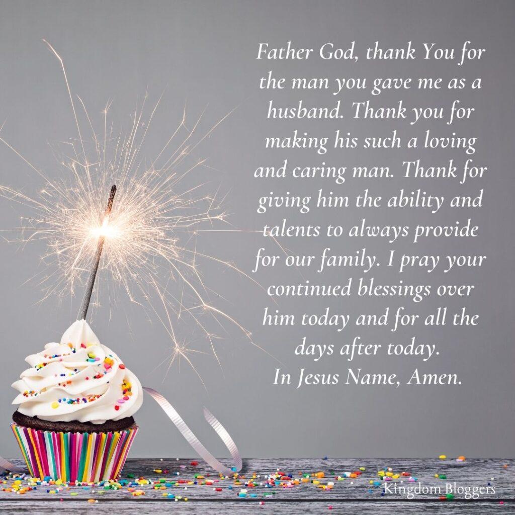 Birthday Prayer for Husband