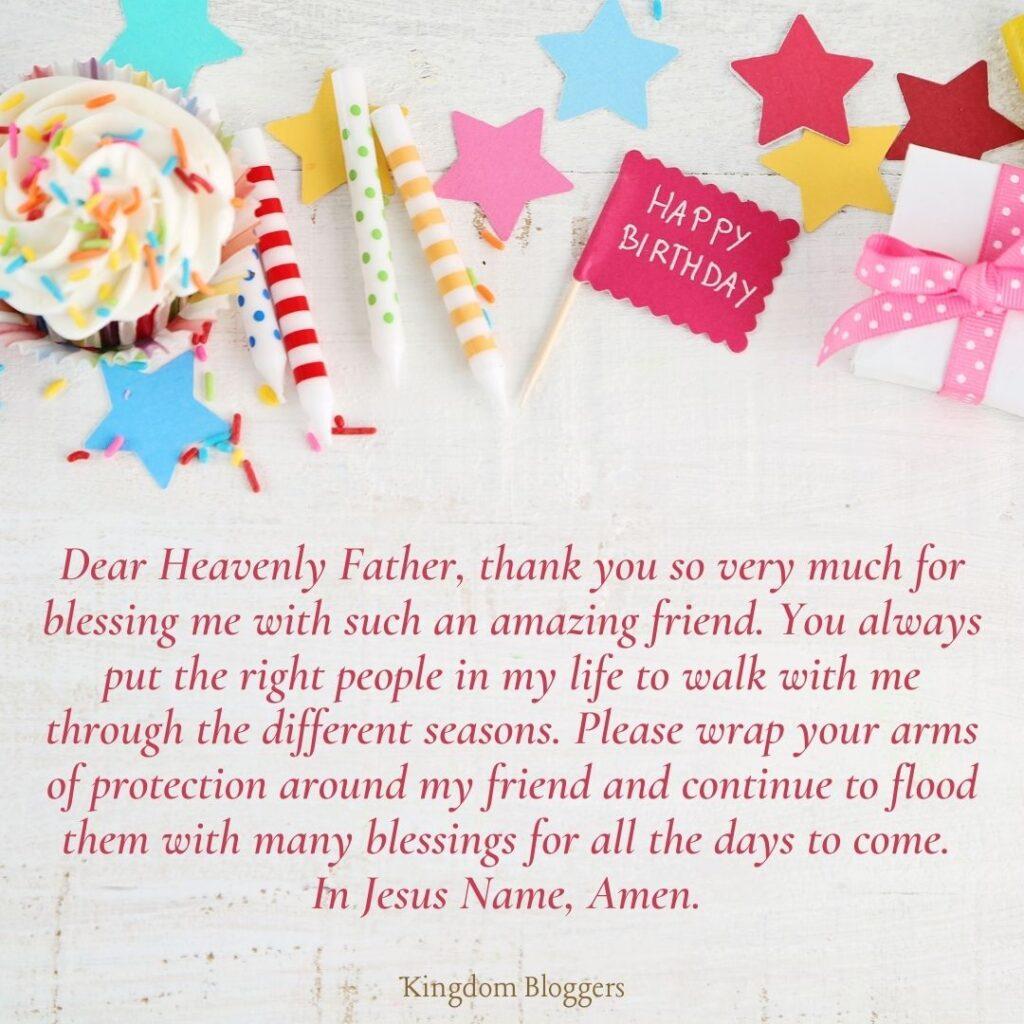 Birthday Prayer for a Friend