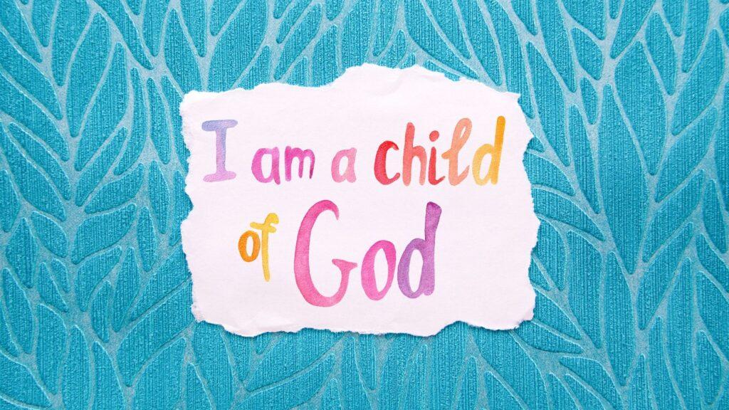 I Am a Child of God notecard